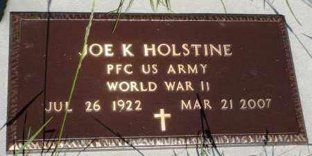 HOLSTINE (VETERAN WWII), JOE K - Baxter County, Arkansas | JOE K HOLSTINE (VETERAN WWII) - Arkansas Gravestone Photos