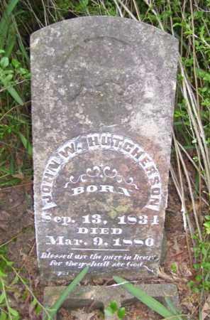 HUTCHESON (VETERAN CSA), JOHN W - Baxter County, Arkansas   JOHN W HUTCHESON (VETERAN CSA) - Arkansas Gravestone Photos