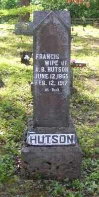 HUDSON HUTSON, FRANCIS - Baxter County, Arkansas | FRANCIS HUDSON HUTSON - Arkansas Gravestone Photos