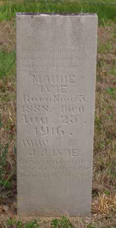 IVIE, MAUDE - Baxter County, Arkansas | MAUDE IVIE - Arkansas Gravestone Photos