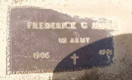 JONES  (VETERAN), FREDERICK G - Baxter County, Arkansas | FREDERICK G JONES  (VETERAN) - Arkansas Gravestone Photos