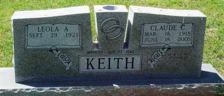 KEITH, CLAUDE C - Baxter County, Arkansas | CLAUDE C KEITH - Arkansas Gravestone Photos