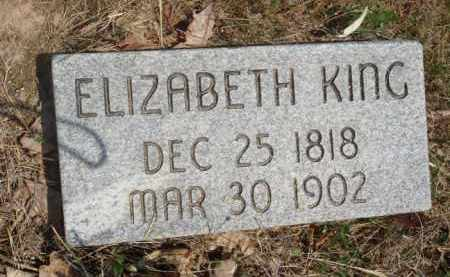 KING, ELIZABETH - Baxter County, Arkansas | ELIZABETH KING - Arkansas Gravestone Photos