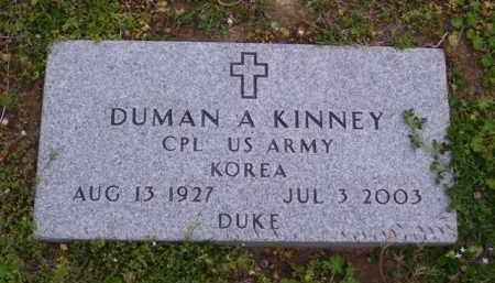 "KINNEY (VETERAN KOR), DUMAN A ""DUKE"" - Baxter County, Arkansas 