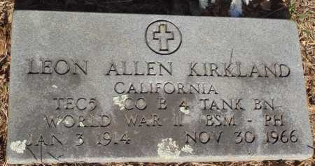 KIRKLAND  (VETERAN WWII), LEON ALLEN - Baxter County, Arkansas | LEON ALLEN KIRKLAND  (VETERAN WWII) - Arkansas Gravestone Photos