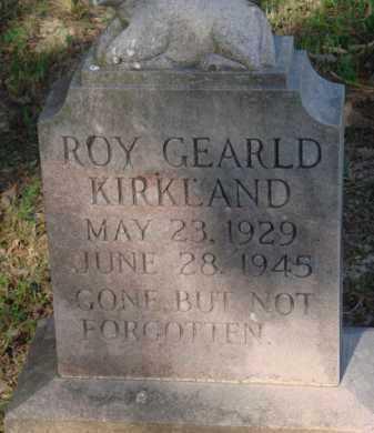 KIRKLAND, ROY GEARLD - Baxter County, Arkansas | ROY GEARLD KIRKLAND - Arkansas Gravestone Photos
