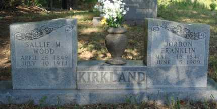 WOOD KIRKLAND, SALLIE M. - Baxter County, Arkansas | SALLIE M. WOOD KIRKLAND - Arkansas Gravestone Photos