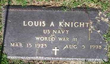 KNIGHT (VETERAN WWII), LOUIS A - Baxter County, Arkansas | LOUIS A KNIGHT (VETERAN WWII) - Arkansas Gravestone Photos