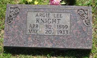 JORDAN KNIGHT, ARGIE LEE - Baxter County, Arkansas | ARGIE LEE JORDAN KNIGHT - Arkansas Gravestone Photos