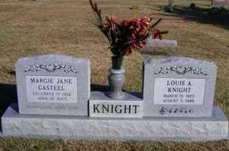 CASTEEL KNIGHT, MARGIE JANE - Baxter County, Arkansas | MARGIE JANE CASTEEL KNIGHT - Arkansas Gravestone Photos