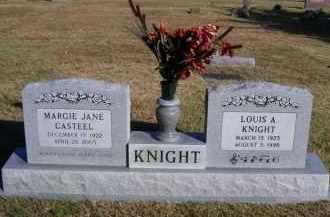 KNIGHT, MARGIE JANE - Baxter County, Arkansas   MARGIE JANE KNIGHT - Arkansas Gravestone Photos