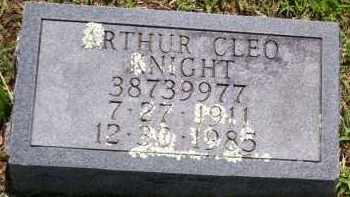 KNIGHT (VETERAN WWII), ARTHUR CLEO (OBIT) - Baxter County, Arkansas | ARTHUR CLEO (OBIT) KNIGHT (VETERAN WWII) - Arkansas Gravestone Photos