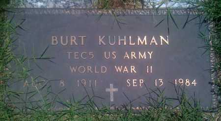 KUHLMAN  (VETERAN WWII), BURT - Baxter County, Arkansas | BURT KUHLMAN  (VETERAN WWII) - Arkansas Gravestone Photos