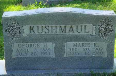 KUSHMAUL, GEORGE H. - Baxter County, Arkansas | GEORGE H. KUSHMAUL - Arkansas Gravestone Photos