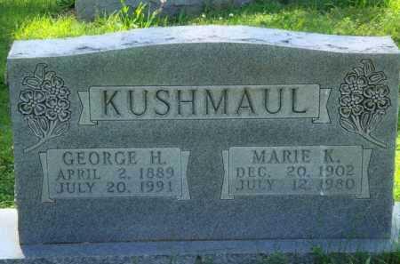 KUSHMAUL, MARIE K. - Baxter County, Arkansas | MARIE K. KUSHMAUL - Arkansas Gravestone Photos