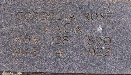 LACK, CORDELIA - Baxter County, Arkansas | CORDELIA LACK - Arkansas Gravestone Photos
