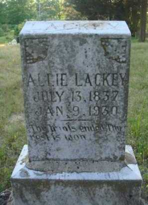 LACKEY, ALLIE - Baxter County, Arkansas | ALLIE LACKEY - Arkansas Gravestone Photos