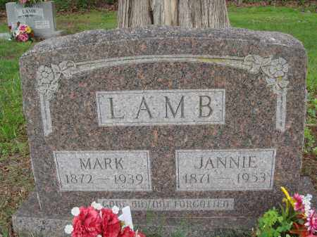 LAMB, JANNIE - Baxter County, Arkansas | JANNIE LAMB - Arkansas Gravestone Photos