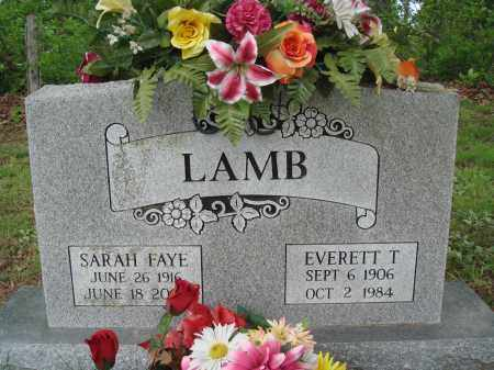 LAMB, EVERETT T - Baxter County, Arkansas | EVERETT T LAMB - Arkansas Gravestone Photos
