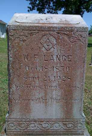 LANCE, W F - Baxter County, Arkansas | W F LANCE - Arkansas Gravestone Photos
