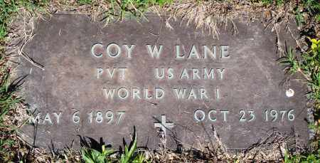 LANE (VETERAN WWI), COY W - Baxter County, Arkansas | COY W LANE (VETERAN WWI) - Arkansas Gravestone Photos