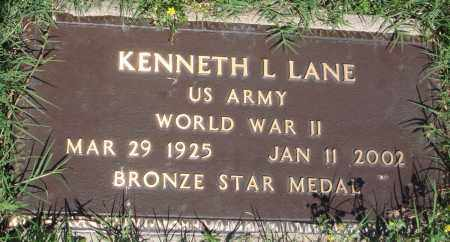 LANE (VETERAN WWII), KENNETH L - Baxter County, Arkansas | KENNETH L LANE (VETERAN WWII) - Arkansas Gravestone Photos