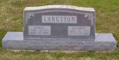 LANGSTON, BENJAMIN F. - Baxter County, Arkansas | BENJAMIN F. LANGSTON - Arkansas Gravestone Photos