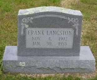 LANGSTON, FRANKLIN AUSTIN - Baxter County, Arkansas | FRANKLIN AUSTIN LANGSTON - Arkansas Gravestone Photos