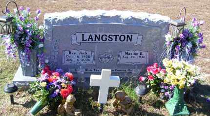 LANGSTON, JACK - Baxter County, Arkansas | JACK LANGSTON - Arkansas Gravestone Photos