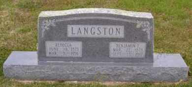 LANGSTON, REBECCA - Baxter County, Arkansas | REBECCA LANGSTON - Arkansas Gravestone Photos