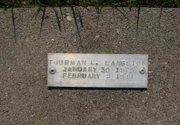 LANGSTON, THURMAN L. - Baxter County, Arkansas | THURMAN L. LANGSTON - Arkansas Gravestone Photos