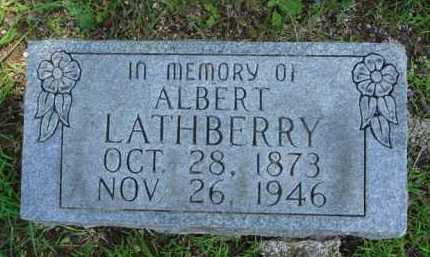 LATHBERRY, ALBERT - Baxter County, Arkansas | ALBERT LATHBERRY - Arkansas Gravestone Photos