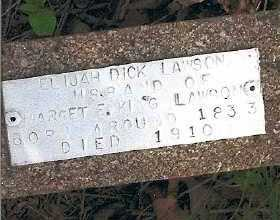 "LAWSON, ELIJAH RICHARD ""DICK"" - Baxter County, Arkansas 