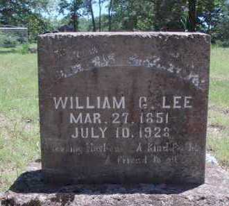 LEE, WILLIAM G. - Baxter County, Arkansas | WILLIAM G. LEE - Arkansas Gravestone Photos