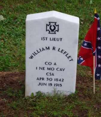 LEFLET (VETERAN CSA), WILLIAM R - Baxter County, Arkansas | WILLIAM R LEFLET (VETERAN CSA) - Arkansas Gravestone Photos
