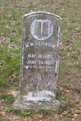 LEIGHTON, M. W. - Baxter County, Arkansas | M. W. LEIGHTON - Arkansas Gravestone Photos