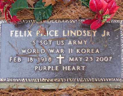 LINDSEY, JR (VETERAN 2 WARS), FELIX PRICE - Baxter County, Arkansas | FELIX PRICE LINDSEY, JR (VETERAN 2 WARS) - Arkansas Gravestone Photos