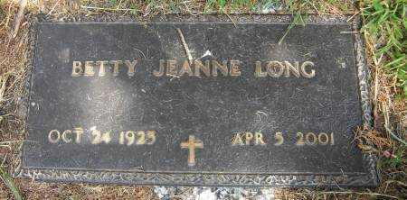 LONG, BETTY JEANNE - Baxter County, Arkansas | BETTY JEANNE LONG - Arkansas Gravestone Photos