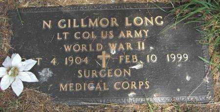 LONG (VETERAN WWII), N GILLMOR - Baxter County, Arkansas | N GILLMOR LONG (VETERAN WWII) - Arkansas Gravestone Photos
