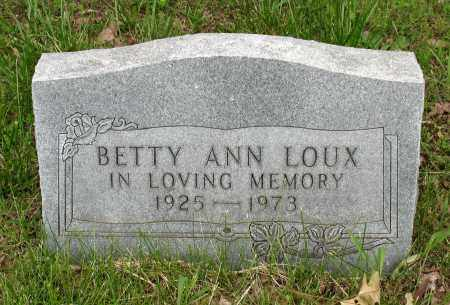 LOUX, BETTY ANN - Baxter County, Arkansas | BETTY ANN LOUX - Arkansas Gravestone Photos