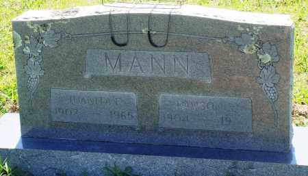 MANN, LAWSON S - Baxter County, Arkansas | LAWSON S MANN - Arkansas Gravestone Photos