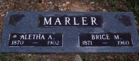 MARLER, BRICE M. - Baxter County, Arkansas | BRICE M. MARLER - Arkansas Gravestone Photos