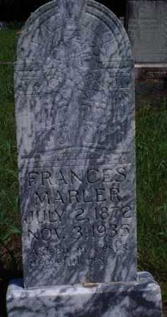 MARLER, FRANCES - Baxter County, Arkansas | FRANCES MARLER - Arkansas Gravestone Photos
