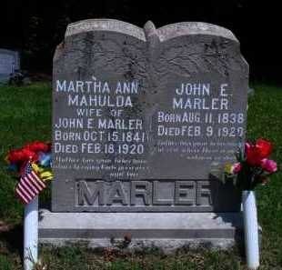 MARLER, JOHN E. - Baxter County, Arkansas | JOHN E. MARLER - Arkansas Gravestone Photos