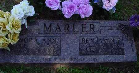 MARLER, NORA ANN - Baxter County, Arkansas | NORA ANN MARLER - Arkansas Gravestone Photos