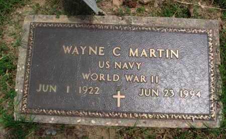 MARTIN  (VETERAN WWII), WAYNE C. - Baxter County, Arkansas | WAYNE C. MARTIN  (VETERAN WWII) - Arkansas Gravestone Photos
