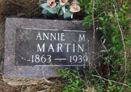 MARTIN, ANNIE M - Baxter County, Arkansas | ANNIE M MARTIN - Arkansas Gravestone Photos