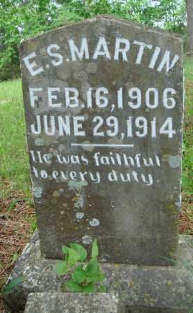 MARTIN, E S - Baxter County, Arkansas | E S MARTIN - Arkansas Gravestone Photos