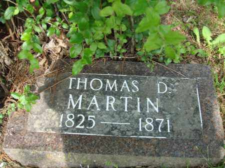 MARTIN (VETERAN CSA), THOMAS D - Baxter County, Arkansas | THOMAS D MARTIN (VETERAN CSA) - Arkansas Gravestone Photos