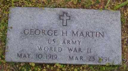 MARTIN (VETERAN WWII), GEORGE H - Baxter County, Arkansas | GEORGE H MARTIN (VETERAN WWII) - Arkansas Gravestone Photos